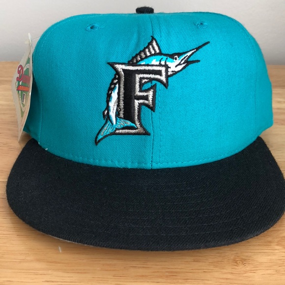 33f41ed60cd Vintage New Era Florida Marlins Hat